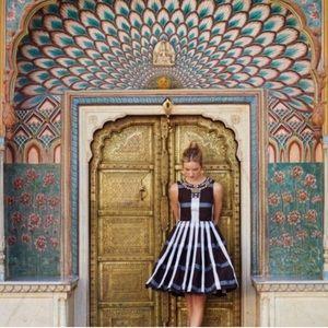 NWOT Anthropologie Maeve Pleated Plaid Dress